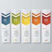 Design clean number banners template Vector. — Stockvektor
