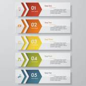 Design clean number banners template. Vector. — Stock vektor