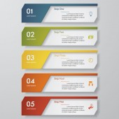 Design clean number banners templatet. Vector. — Stock vektor