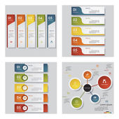Collection of 4 design template graphic or website layout. Vector Background. — 图库矢量图片