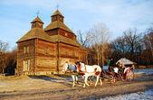 Oude houten kerk — Stockfoto