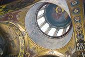 Die zentrale Kuppel der Vladimirskiy Kathedrale in Kiew. — Stockfoto