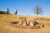 Old apiary near the village — Stock Photo