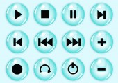 Glossy button set — Stock Vector
