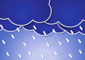 Paper rain clouds and rains — Stock Vector