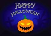 Halloween background with pumpkin head — Stock Vector