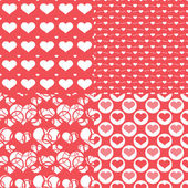 Valentine hearts seamless pattern, Abstract background — Stockvektor