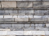 Broken marble wall, — Stock Photo