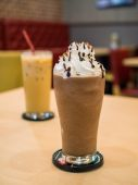 Delicious chocolate frappe — Stock Photo