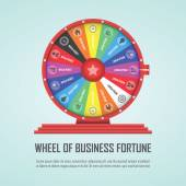Wheel of fortune infographic design element — Stock Vector