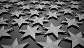 Black stars rendered on dark  — Stock Photo