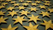 Yellow abstract stars background  — Stockfoto