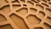 Orange cell mesh concept — Stock Photo
