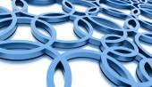 синие круги абстрактный фон — Стоковое фото