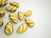 Orange easter eggs concept  — Stockfoto