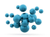 Many blue abstract sphere concept  — Stock Photo