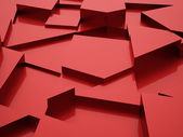 Red abstract triangle  — Stockfoto