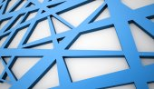 Blue meshes background rendered — Stock Photo