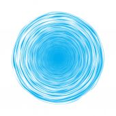 Blue circle composed of thin lines — Vetor de Stock