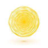 Sun symbol yellow circle composed of thin lines — Stockvektor