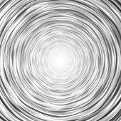 Abstract circular background composition of thin irregular circle — Stock Vector