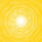 Abstract yellow background composition of thin irregular circle with white center — Stock Photo