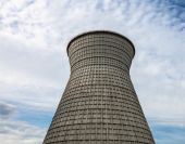 Cooling tower of the cogeneration plant in Kyiv, Ukraine — Stock Photo