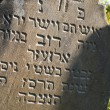 Gravestone in the old Jewish cemetery in the Ukrainian Carpathia — Stock Photo #58967015