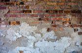 旧砖墙与损坏的石膏 — 图库照片