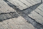 Grey concrete pavement surface — Stock Photo