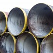 New metal pipes stack — Stock Photo #62737921