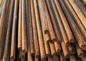 Metal rusty reinforcement bars — Stock Photo