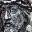 Old cemetery marble sculpture of Jesus Christ — Stock Photo #62740045