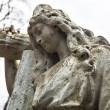 Old cemetery marble sculpture of the woman — Stock Photo #62743027