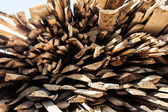 Pile of raw planks of pine wood — Stock Photo