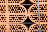 Stacks of silicate bricks — Stock Photo