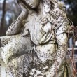 Old cemetery marble sculpture of the angel — Stock Photo #77044935