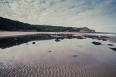 Retro Seaside beach scene.tif — Stock Photo