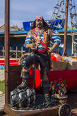 Pirate seaside attraction, Withernsea, UK — Stockfoto
