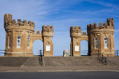 Traditional Fort Building entrance to Withernsea Beach — Stock Photo