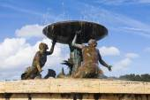 Maltese mermaid fountain — Stock Photo