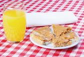 Sandwich with peanut butter — Стоковое фото