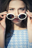 Woman Sixties Style Closeup — Stock Photo
