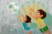 Soccer poster  with kids — Stockfoto