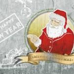 Santa claus portrait on concrete wall — Stock Photo #56606721