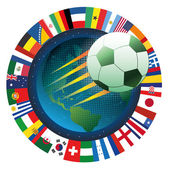 Universe soccer emblem — Stock Vector