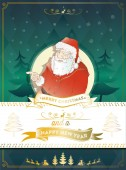 Blinking santa claus — Stock Vector