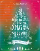 Background with Christmas wishes — Stock Vector