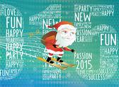Santa claus  jumps — Stock Vector