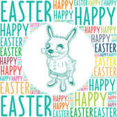 Easter bunny greetings — Stock Vector